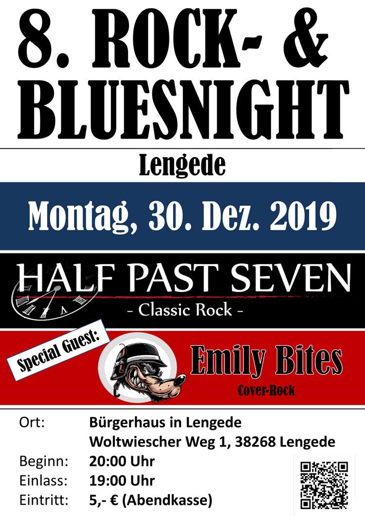 8. Rock- & Bluesnight in Lengede mit Half-Past-Seven und Emily Bites